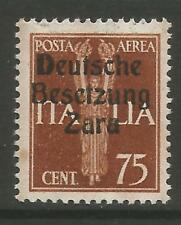 STAMPS-GERMAN OCCUPATIONS-DALMATIA-ZARA.1943. 75c Chestnut Airmail.  SG: 28. MNH