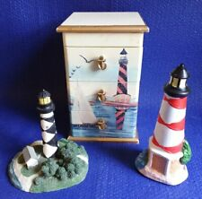 3 Lighthouse Lot Arister Gift Trinket Jewelry Box American Heritage Cape Lookout