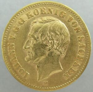20 Mark 1873 E Iohann Sachsen Johann Gold - ss/ vz  ║ M324