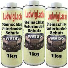 Steinschlagschutz Unterbodenschutz 3x1kg Weiss  für Autolack von Ludwiglacke