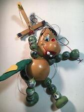 "Vintage PELHAM PUPPETS String Marionette ""Green Baby DRAGON"" 9 inch"