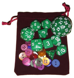 Diced Maths™ 10 polyhedral Dice Set with Counters
