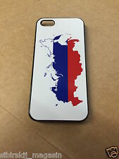 iPhone 5 / 5S - Hard Case - Russland Russia Karte - Cover Handy Hülle Schale