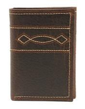 Ariat Western Mens Wallet Leather Trifold Boot Stitch Brown A3539602