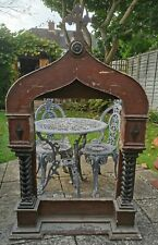 More details for stunning antique victorian naive gothic church altar ecclesiastical religious