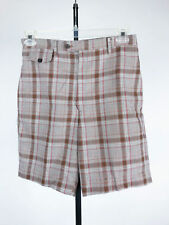 Vintage 70's Levi's Panatela Shorts - Brown Plaid