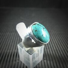 Ring Gr. 57, Silber 925 mit einem Türkis Cabochon aus Tibet