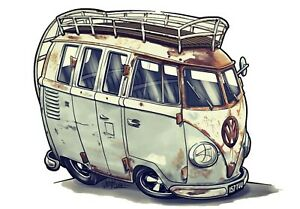 Campervan Hippy Love Peace Traveller Camper Nature Flower Power VW Van Tshirt
