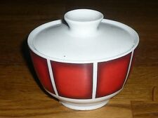 1 Zuckerdose mit Deckel      Winterling  KIRCHENLAMITZ   Rote breite Streifen