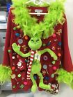 Ugly Christmas Sweater GRINCH with Blinking Lights Women's 3X