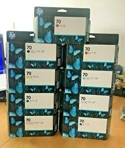 Genuine HP 70 Printer Inks - SINGLES, BOXED, VARIOUS COLOURS, (INC VAT) LOT