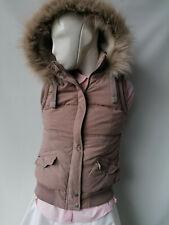 Hudson & Rose Ladies Pink, Faux Fur Hooded Body Warmer. Size