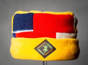 Yellow Patchwork Porkpie Fleece Hat by Original Lizard