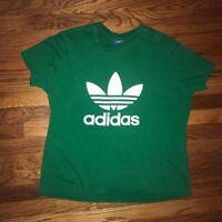 Adidas Mens T Shirt Green Trefoil Vintage Mens XL Preowned Adidas