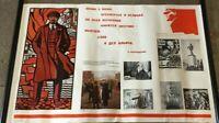 Br) Original Sovietunion Lenin Poster Plakat Propaganda 104x68cm