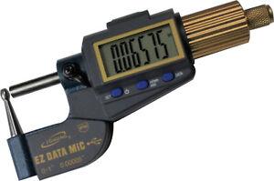 "Tube Micrometer / IP54 / Tube Ball Spherical Anvil /  XLarge LCD 0-1""/0.00005"""