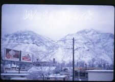 1963  amateur Kodachrome photo slide Provo Utah stores billboard