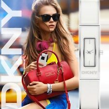 DKNY LADIE'S WHITE BANGLE COLLECTION WATCH NY8761