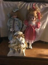 PORCELAIN Dolls good condition 1 plays music lot 47