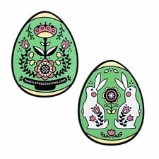 Egg Geocoin - Green Geocaching Official Trackable