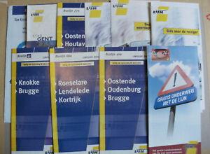 10 Belgian Bus & Tram Timetables Maps Leaflets 2000 - 2004 De Lijn Set 6