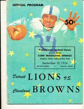 9/10 1954 Detroit Lions vs Cleveland Browns football program played dallas