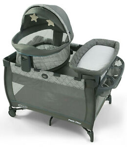 Graco Baby Pack 'n Play Travel Dome DLX Bassinet Playard Napper Archer New