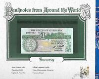World Banknotes State of Guernsey 1 pound 1980 P-48a UNC Prefix D