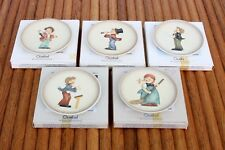 5 Vintage Hummel Goebel Germany Miniature Collector Plates Assorted & Boxes
