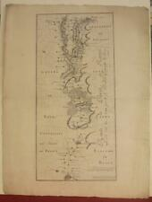 PARIS REIMS FRANCE 1728 DAUDET & DEMORTAIN ANTIQUE COPPER ENGRAVED ROAD MAP