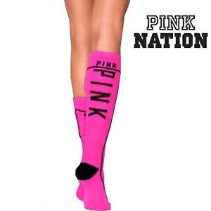 Victoria's Secret PINK KNEE HIGH SOCKS ¹Pair Collegiate + Bonus! Buy3ShipFree!