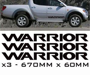 x2 MITSUBISHI WARRIOR REPLACEMENT DOOR DECALS VAN CAR VINYL GRAPHICS STICKERS