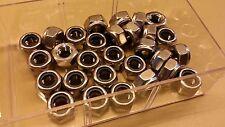 Lot de 5 Ecrous freins 6 pans acier INOX M10 neufs !!