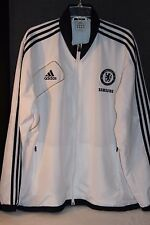 CHELSEA FC FOOTBALL CLUB SOCCER ADIDAS SAMSUNG 2012 WARM UP JACKET XL WHITE EUC