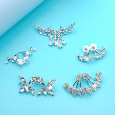 New Fashion Women Girl Elegant 5 Pairs Crystal Rhinestone Ear Stud Earrings Set