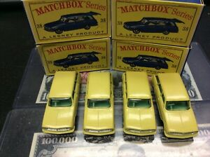 MIB 4 VAUXHALL VICTOR ESTATE CAR MATCHBOX CARS MINT IN THE BOXES 4 CARS NO