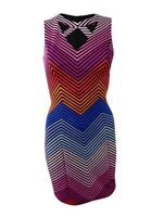Guess Women's Cutout Bodycon Dress 14, Black/Multi