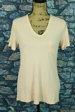 T by Alexander Wang Size M Pocket Tee Long Length Draped Fit Stretch Cap Sleeve