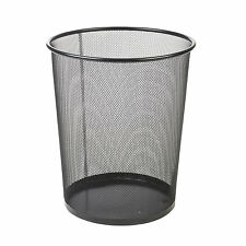 Wire Waste Paper Basket metal wire woven waste paper basket bin with handles home office