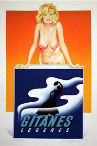 Mel Ramos - Gitanes - 1999, Pop Art Grafik Lithografie, Luxus