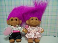 """FLOWER GIRL AND RING BEARER - 3"""" Russ Troll Dolls - NEW IN ORIGINAL WRAPPERS"""