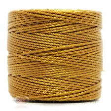 77 Yds. Super-Lon Cord #18 Golden Gold Beading Crafting Stringing Crochet