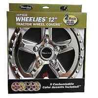 "2 New Wheelies Lawn Garden Tractor Wheel Covers Hub Caps for 12"" Wheels 182"