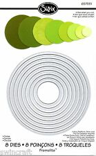 Sizzix Framelits Cutting Dies Set of 8 CIRCLES -  657551 Big Shot