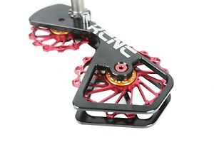 KCNC Road Bicycle Bike Oversize Pulley OSPW Cage for Shimano 6800/9000 Red
