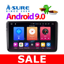 "32GB A-Sure Android 9.0 VW Golf MK5 MK6 9"" Car Head Unit Stereo Sat Nav GPS DAB+"