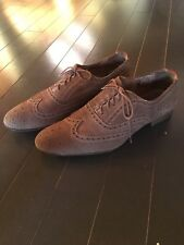 Paul Smith Miller Taupe Beige Tan Wingtip Brogue Shoes - UK 8 - US 9
