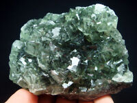 385g Mysterious Forest Green FLUORITE Crystal Cluster Mineral Specimen