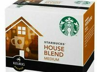 Starbucks House Blend Medium Roast Coffee K-Cups Keurig Hot