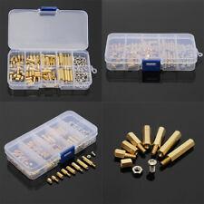 120pcs M3 Brass Standoffs Hex Nuts Screws Spacer Pcb Assortment Kit Set With Case